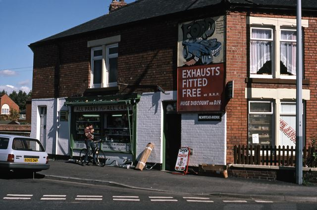 Allparts Car Shop, Sleaford Road and Newstead Avenue, Newark, 1987