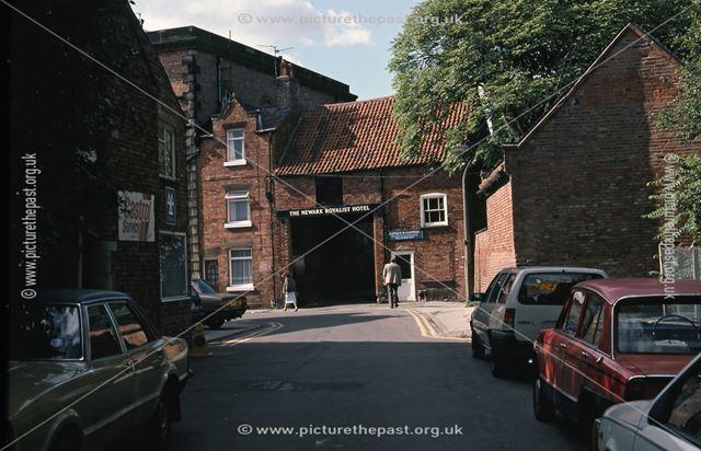Side Entrance to Royalish Hotel and Public House, Bede House Lane, Newark, 1987