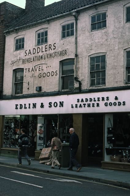 Edlin's Leather Goods, Stodman Street, Newark, 1987