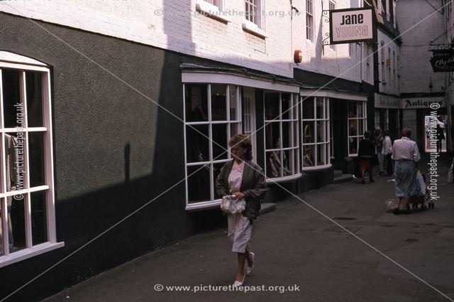 Jane Young Women's Clothes Shop, Chain Lane, Newark, 1987