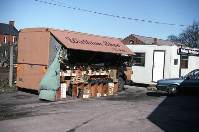 Workton Mobile Shop Lorry, Cattle Market, Tolney Lane, Newark, 1990
