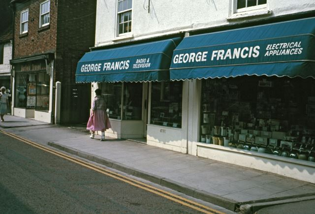 George Francis Electrician Appliances, Middle Gate, Newark, c 1986