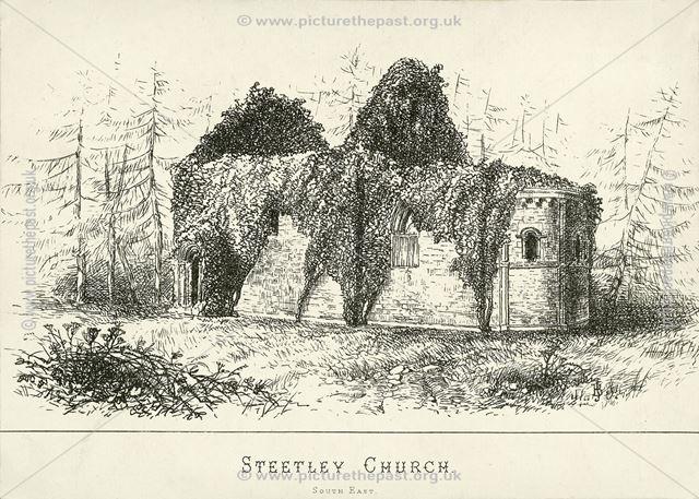 South East View of All Saint's Church, Scratta Lane, Steetley