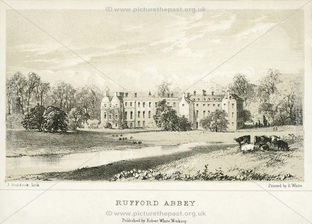 Rufford Abbey, Rufford Abbey Park, Rufford, c 1900