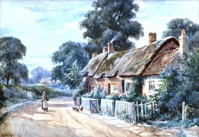 'Old Wilford Cottages', Wilford, Nottingham, c 1900