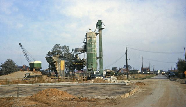 Construction of A1, Nelson Lane, North Muskham, 1963