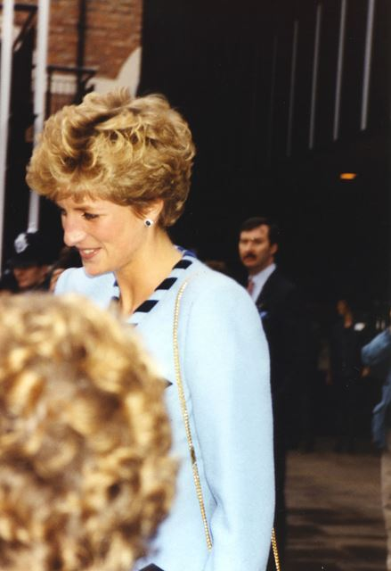 The Princess of Wales visiting Nottingham Playhouse, 1993
