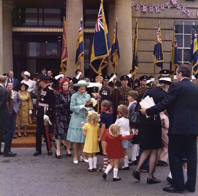 Queen Elizabeth II Officially Opening Mansfield Library, 1977