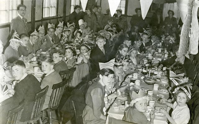 Coronation Street Party, Lenton Abbey, 1953
