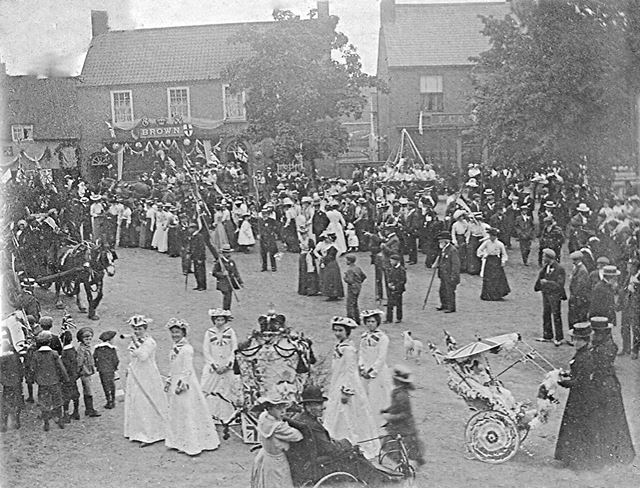 Celebrations for Coronation of Edward VII, Market Place, Bingham, 1902