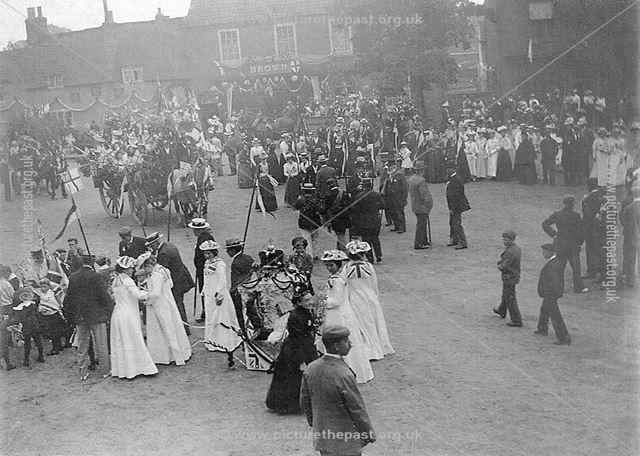 Celebrations for Coronation of Edward VII, Market Place, Bingham, 1902