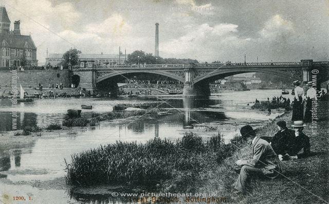 Trent Bridge, Nottingham, c 1900 ?