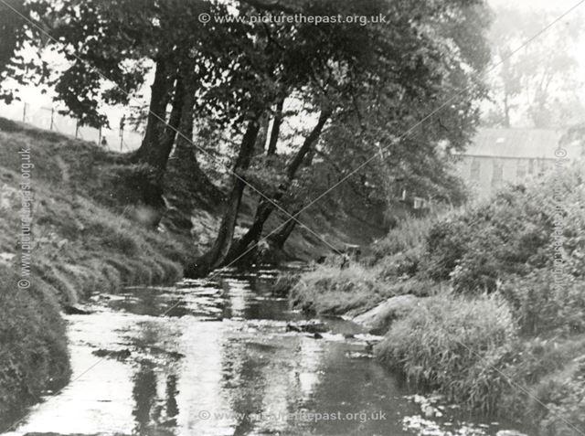 River Maun near Bath Lane, Mansfield, c 1953