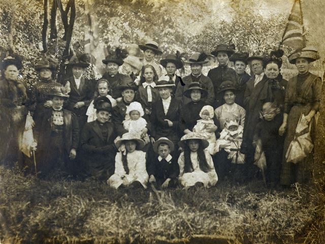 Celebrating Edward VII's Coronation, The Lawn, Sutton In Ashfield, 1902