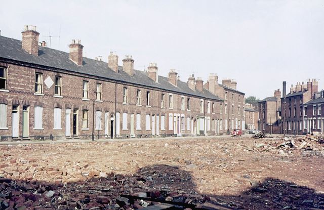 Demolition of The Meadows, c 1974