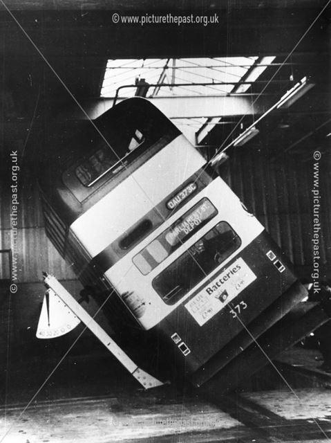 Bus Tilt Test, Parliament Street Depot, Nottingham, c 1965