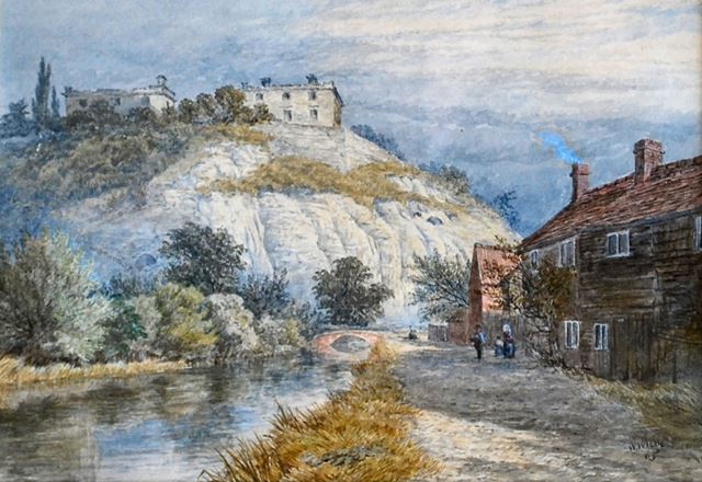 Nottingham Castle from the Nottingham Canal, 1865