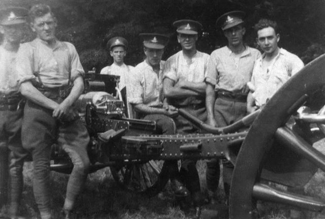 George Turner with the 10th Battery Horse Artillery, Mansfield, c 1914