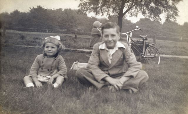 Thelma and Trevor Smith in Wollaton Park, Nottingham, c 1941