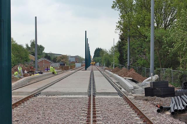 Extension of the NET Tram System, Compton Acres, Wilford, Nottingham, 2014