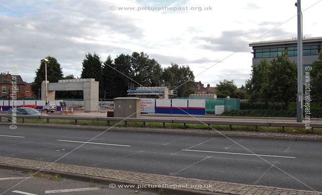 Site for new NET tram line bridge over Clifton Boulevard, Dunkirk, Nottingham, 2013
