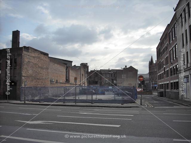 Site of former restaurant building, Greyfriar Gate, Nottingham, 2014