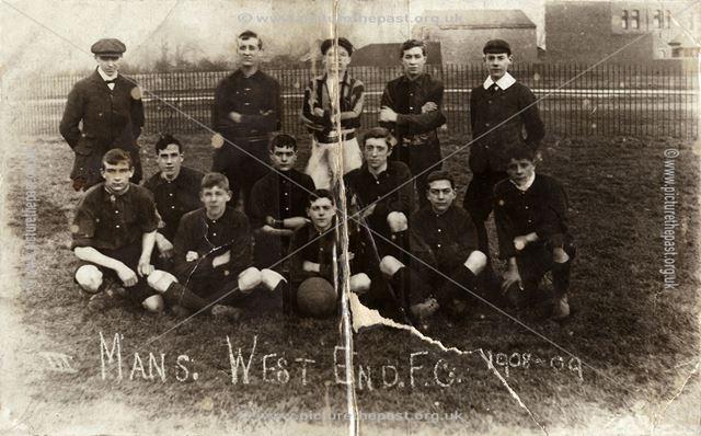 Mansfield West End Football Club, 1908-9