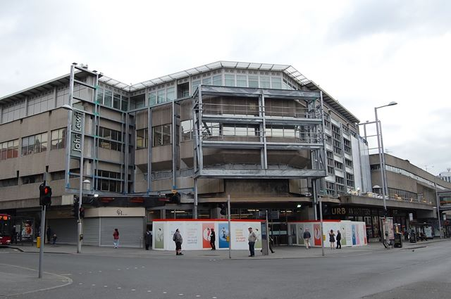 The Victoria Centre mid-redevelopment, Nottingham, 2015
