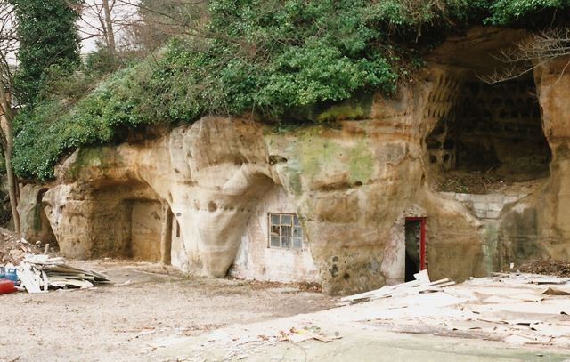 Rock Caves, Castle Boulevard, Nottingham, 2001