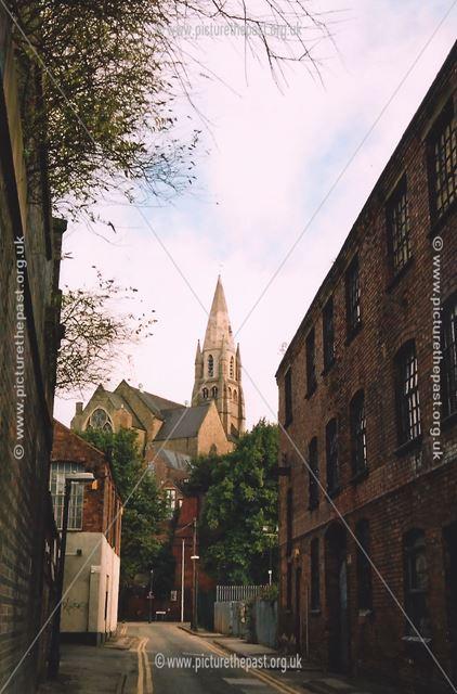 Looking up Popham Street, Narrow Marsh, Nottingham, 2006