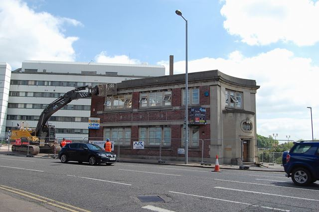 Demolition of a former offices on Lower Parliament Street, Nottingham, 2015