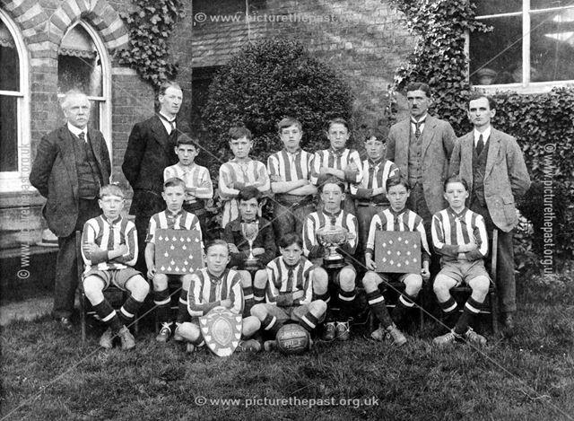 Somercotes Boys Football Team, Bank Street, Somercotes, 1921-22