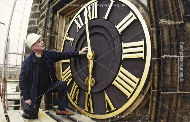 St. Peter's Church Clock Tower, Belper, c 2002