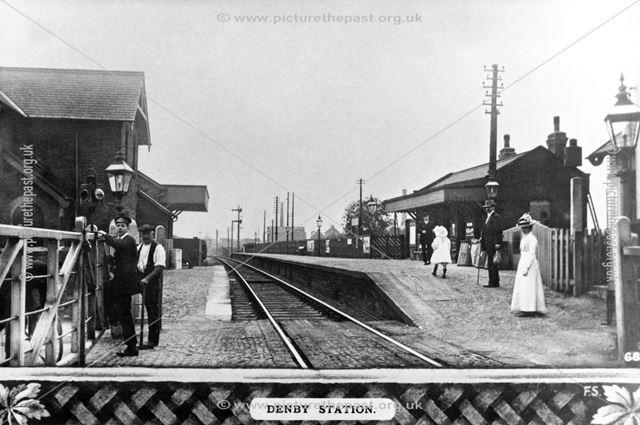 Denby Train Station, c 1910