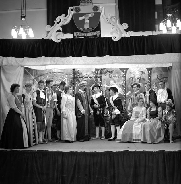 Twelth Night at Performed at Herbert Strutt School, Derby Road, Belper, c 1950s ?