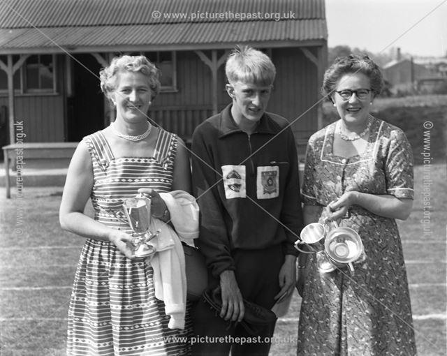 Sports Day Awards, Herbert Strutt School, Derby Road, Belper, 1960