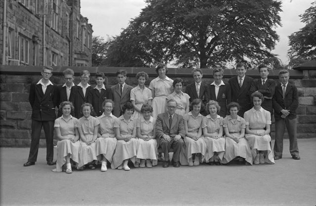 Class Portrait, Herbert Strutt School, Derby Road, Belper, 1958