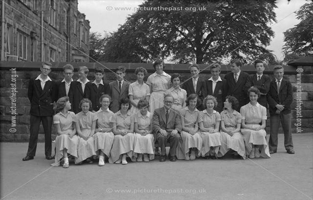 Class Portrait, Herbert Strutt School, Derby Road, Belper, 1958