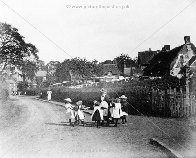 Children at Play, Church Street, Denby Village, 1898