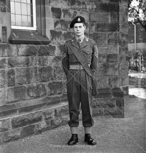Cadets Inspection, Herbert Strutt School, Derby Road, Belper, 1963