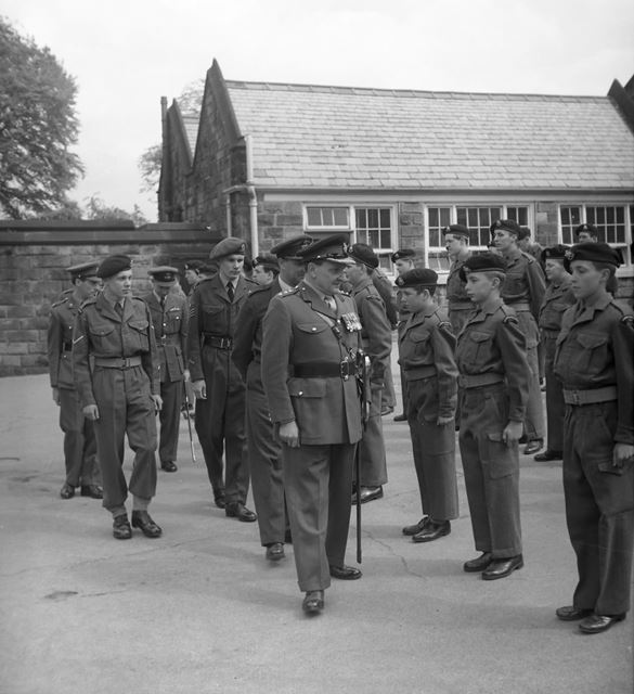 Cadets Inspection, Herbert Strutt School, Derby Road, Belper, 1961