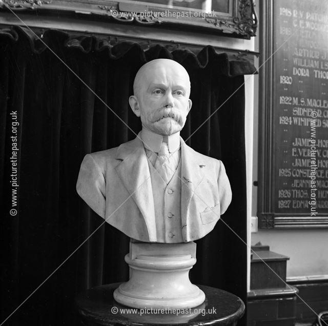 Bust of Herbert Strutt, Herbert Strutt School, Derby Road, Belper, 19