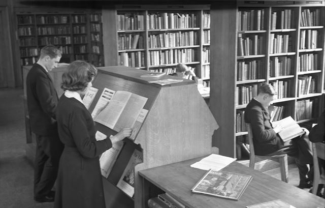 Library, Herbert Strutt School, Derby Road, Belper, c 1960s