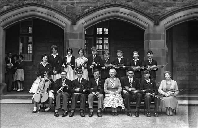 Portrait of Orchestra, Herbert Strutt School, Derby Road, Belper, 1961