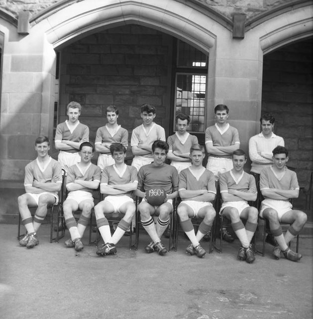 Football Team, Herbert Strutt School, Derby Road, Belper, 1961