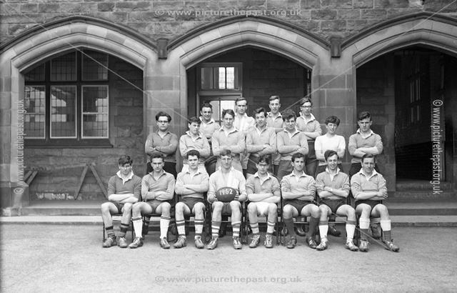 Rugby Team Portrait, Herbert Strutt School, Derby Road, Belper, 1962