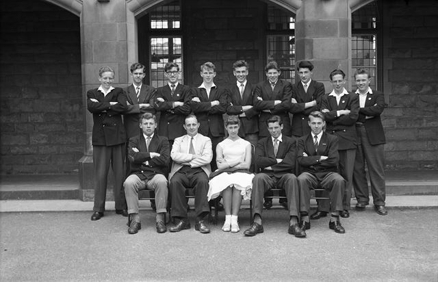 Class Portrait?, Herbert Strutt School, Derby Road, Belper, c 1960s