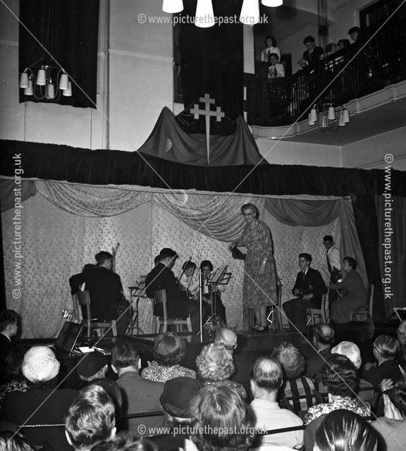 Concert at Herbert Strutt School, Derby Road, Belper, c 1960s