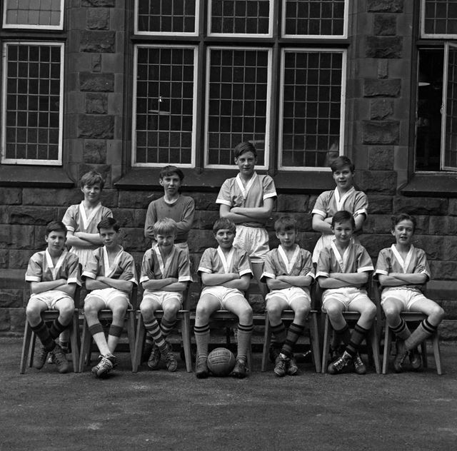 Under 11's Football Team, Herbert Strutt School, Derby Road, Belper, 1960s