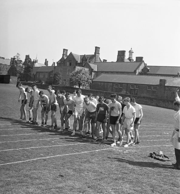 Sports Day, Herbert Strutt School, Derby Road, Belper, 1960s
